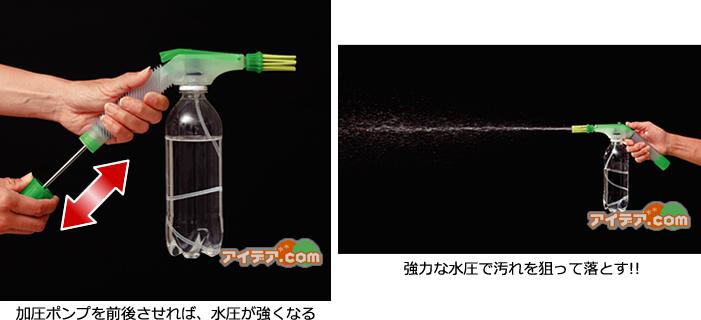 ジェット水圧ブラシ 使用イメージ3