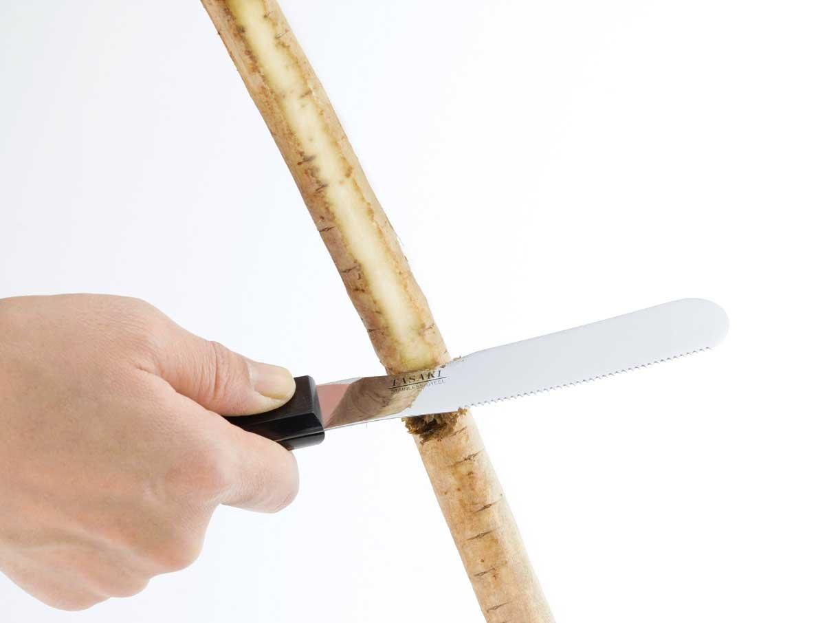 ゴボウを切るスパチュラ&ナイフ アームシェフ