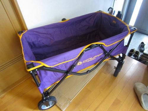 アウトドアの重い荷物を運ぶ便利グッズ キャリーワゴン買ってみた!