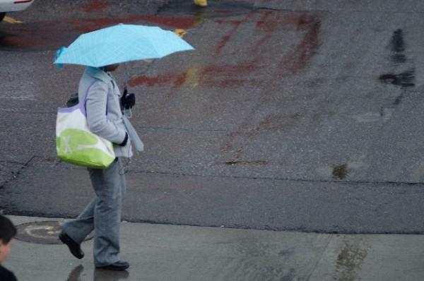 雨の日 傘をさす人