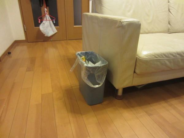 レジ袋を隠せないダサいゴミ箱