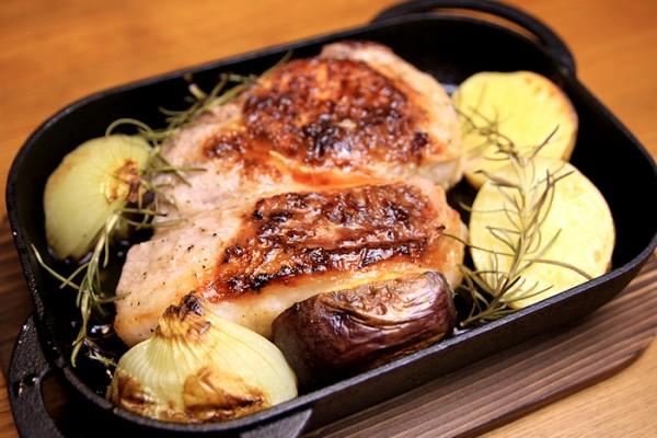 南部鉄器・魚焼きグリル用ベイクパンでオーブン料理3