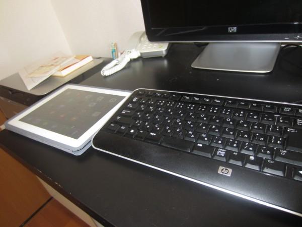 PCとタブレット 2台で作業