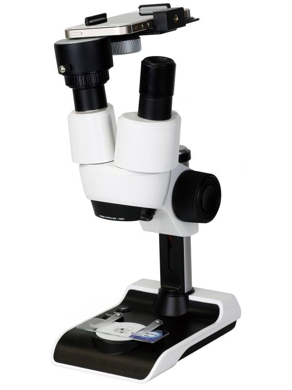 スマートフォンも取付可能な100倍顕微鏡セット。立体的に観察できる双眼タイプ。 Do・Nature Advance STV-A100SPM