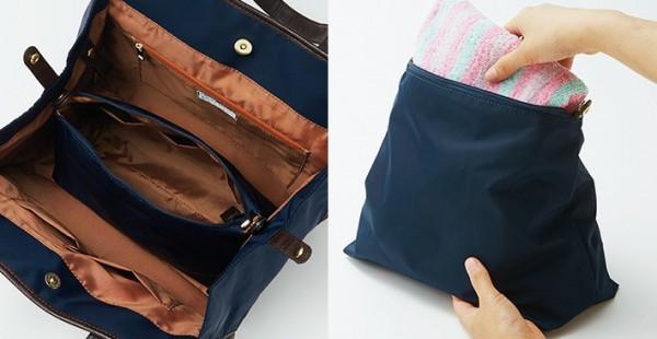 きれいめスタイルにもぴったり! スーツで持っても浮かない 通勤&フィットネス両立バッグ_06
