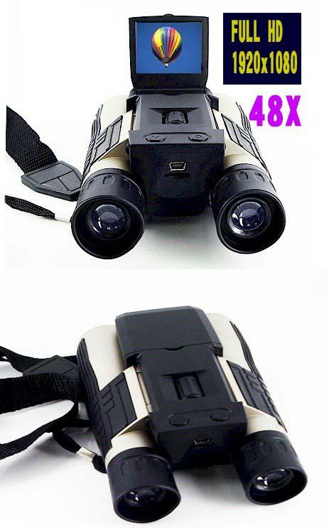 フルハイビジョンビデオカメラ付双眼鏡/48倍/VPHDCAM
