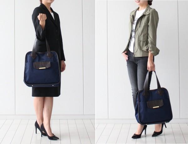 きれいめスタイルにもぴったり! スーツで持っても浮かない 通勤&フィットネス両立バッグ_04