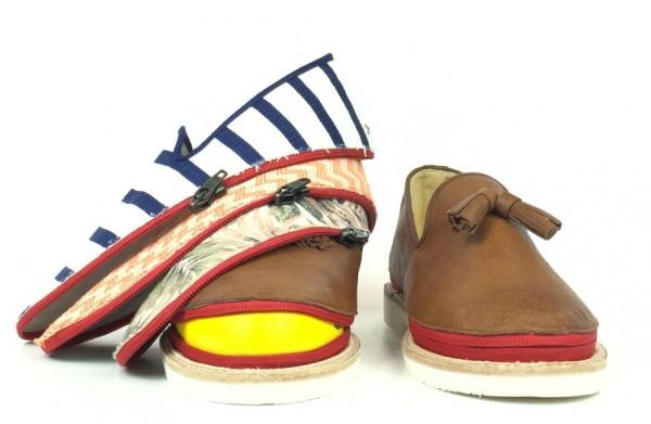 旅行先で靴を着せ替え!荷持にならない便利シューズ!