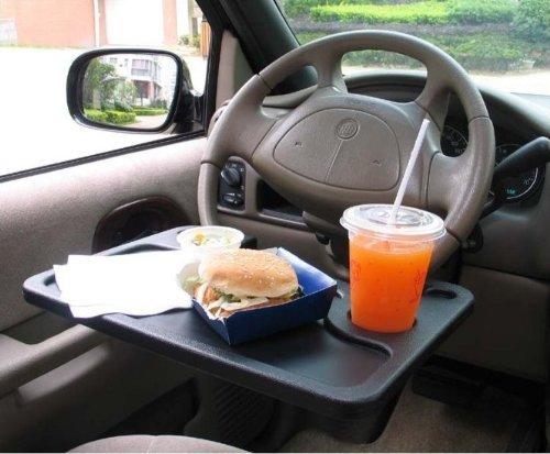 ビジネスマン必見! 仕事もランチも車内で使える便利なトレイ!