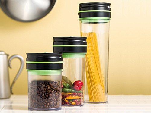 コーヒーの酸化を防止する真空になる容器! 乾物保存キャニスター!