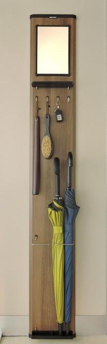 傘立てにもなるスリムな玄関収納ラック! 鍵・靴べらもこれひとつ!