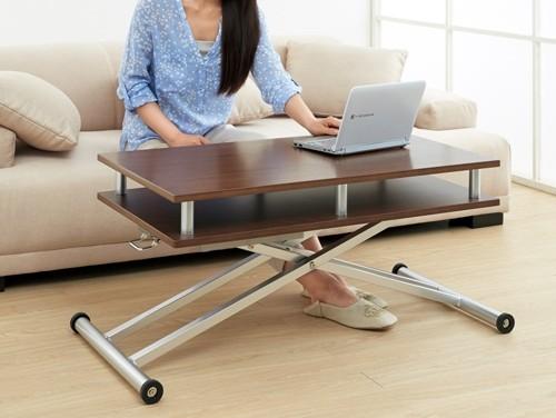 棚付き昇降式テーブル