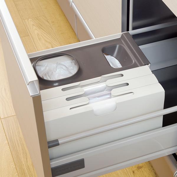 キッチンで便利! レジ袋・ポリ袋・ゴミ袋の引き出し収納ケース