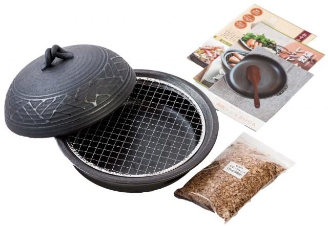 燻製もできる陶板鍋