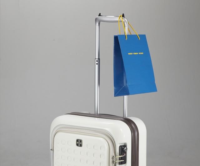 キャリーバッグにおすすめ!便利な荷物掛けフック!