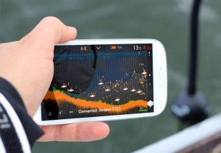 超コンパクト!携帯できるスマホ連動ワイヤレス魚群探知機!