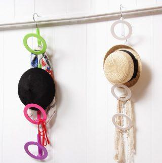 帽子の収納は壁掛けでお洒落に吊るす!クローゼットや玄関に!