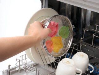 水筒や弁当箱のゴムパッキン洗浄に便利!食洗機用小物カゴ