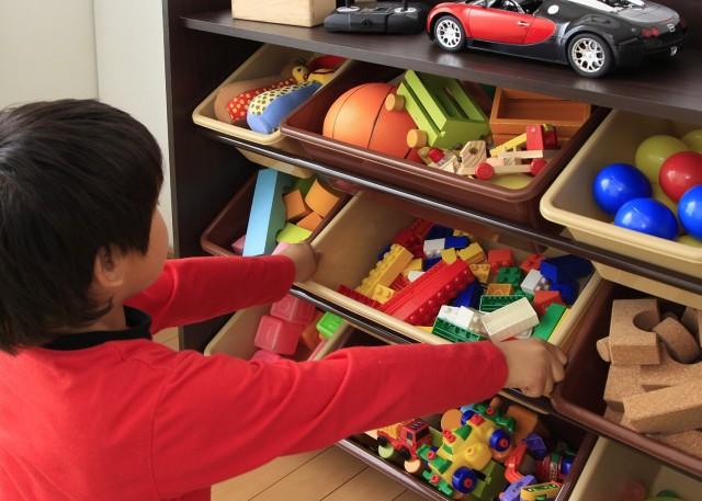 おもちゃ収納 天板付きトイハウスラック
