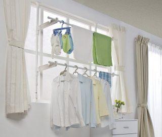 洗濯物を室内で干すなら窓際!場所をとらない室内干し