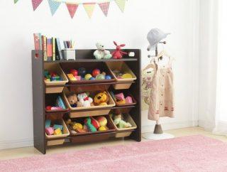 リビングや部屋の片付けに! 子供のおもちゃ収納ラック