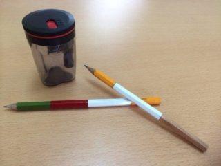 短くなった鉛筆の使い道に!東急ハンズで人気のつなぐ鉛筆削り