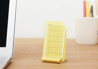 机に立てて伝言メモになる付箋!サイズ調整で手帳にも!