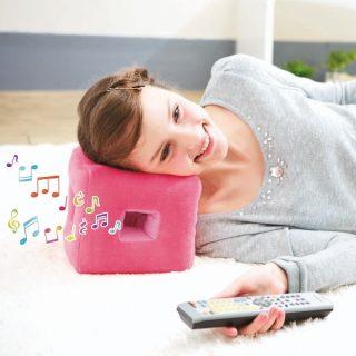 ごろ寝でもテレビの音が聞きやすくなる枕!TVクッション