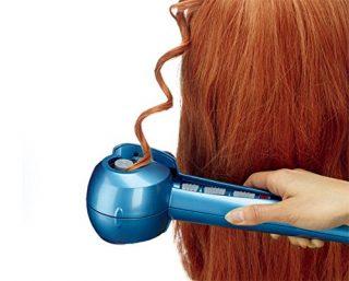 ロングの巻き髪が簡単コテなし!スチームで長時間キープ!