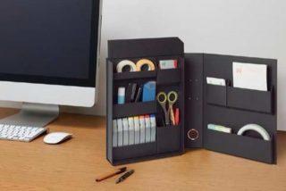 卓上で使える文房具収納ケース!持ち運び便利で机スッキリ!
