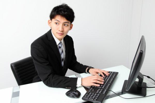 パソコンデスク ビジネスマン