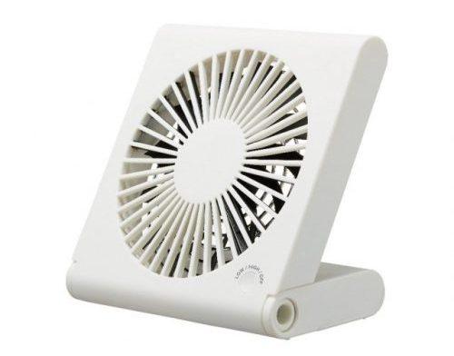 ピエリア 卓上扇風機 スリムコンパクトファン 3電源(AC,USB,乾電池)