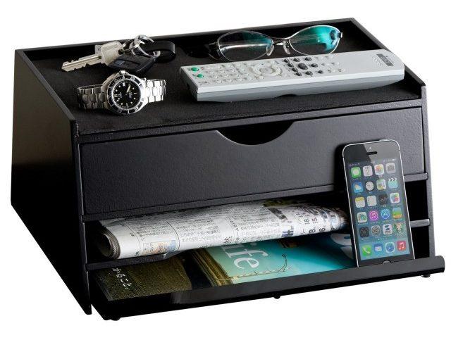 サンワダイレクト 机上台 iPad タブレット 収納 充電ステーション A4書類対応 ブラック 100-MR101