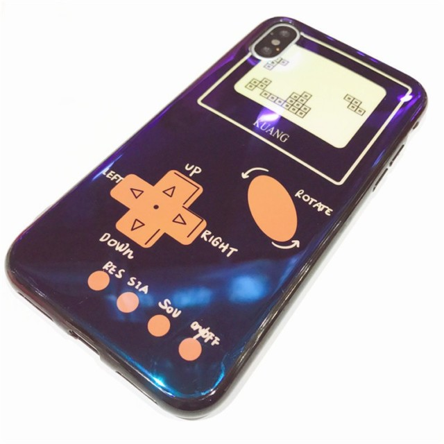 ゲームボーイ 風 テトリス 耐衝撃 TPU もけ 携帯カバー