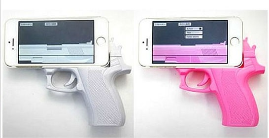 ハンドガン型 スマホカバー iPhone6 6Plus ET-HGCASE