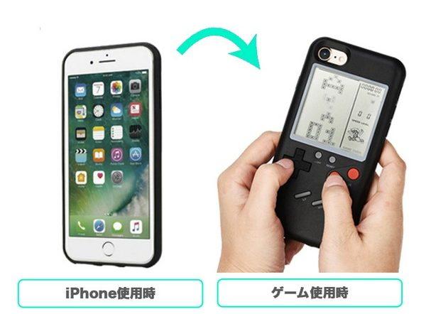 iPhoneケース レトロゲーム付き